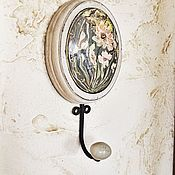 Для дома и интерьера ручной работы. Ярмарка Мастеров - ручная работа Крючок с росписью маслом. Handmade.
