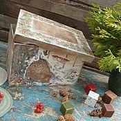 """Подарки к праздникам ручной работы. Ярмарка Мастеров - ручная работа Короб """"Ребятам- о зверятах"""" для игрушек. Handmade."""