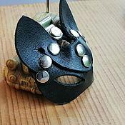 Аксессуары handmade. Livemaster - original item Leather keychain,, Cat,,. Handmade.