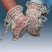 Работы для детей, handmade. Livemaster - original item Booties lace. Handmade.