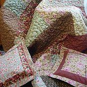 """Для дома и интерьера ручной работы. Ярмарка Мастеров - ручная работа Лоскутный плед """"Для Нее""""с подушечками. Handmade."""
