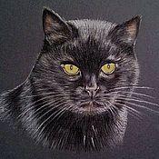 Картины и панно ручной работы. Ярмарка Мастеров - ручная работа Вредный кот. Handmade.