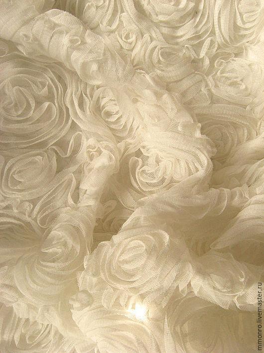Шитье ручной работы. Ярмарка Мастеров - ручная работа. Купить Элитная свадебная ткань 3Д, для платья, юбки. Вероника. Handmade.