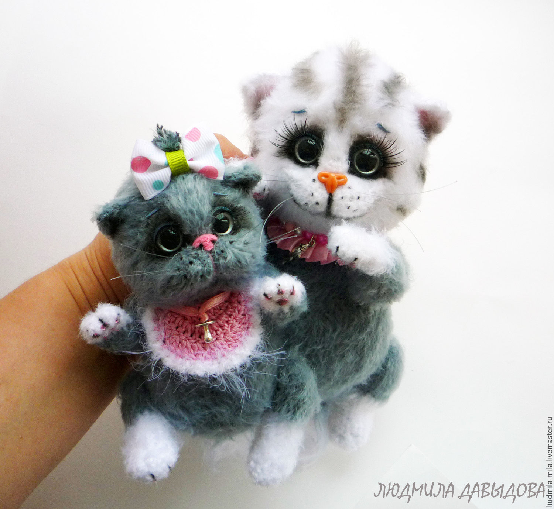 Маленькие котики вязание