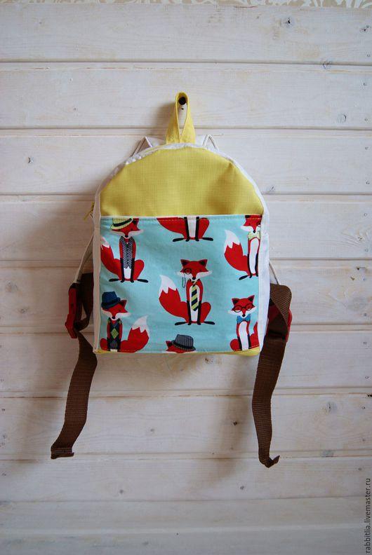 Рюкзаки ручной работы. Ярмарка Мастеров - ручная работа. Купить Рюкзак детский Лиса / Желтый Белый / Для Девочки. Handmade.