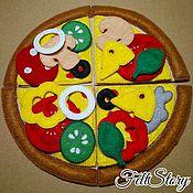 Кукольная еда ручной работы. Ярмарка Мастеров - ручная работа Еда для кукол Пицца из фетра. Handmade.