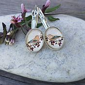 Украшения handmade. Livemaster - original item Silver plated earrings Bird red. Handmade.