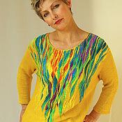 """Одежда ручной работы. Ярмарка Мастеров - ручная работа Джемпер """"Солнце.""""продан. Handmade."""