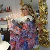 """Одежда ручной работы. Ярмарка Мастеров - ручная работа Валяное пальто  """"Радуга"""". Handmade."""
