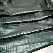Материалы для творчества handmade. Livemaster - original item Crocodile skin, soft dressing, matte surface. Handmade.