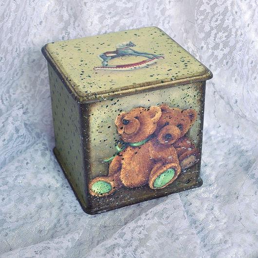 """Детская ручной работы. Ярмарка Мастеров - ручная работа. Купить Короб """"Мишки"""". Handmade. Малыш 2011, мдф"""