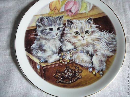 Винтажные предметы интерьера. Ярмарка Мастеров - ручная работа. Купить Коллекционная  тарелка, Англия, винтаж. Handmade. Белый, английский стиль