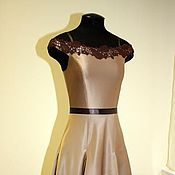 Одежда handmade. Livemaster - original item Evening dress with Godet skirt. Handmade.