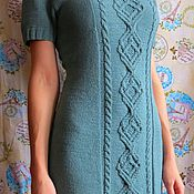 Одежда ручной работы. Ярмарка Мастеров - ручная работа Вязаное платье с коротким рукавом. Handmade.