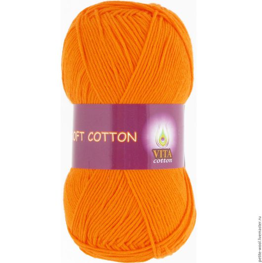 Вязание ручной работы. Ярмарка Мастеров - ручная работа. Купить Пряжа SOFT COTTON Vita cotton 100% хлопок Софт коттон Вита. Handmade.