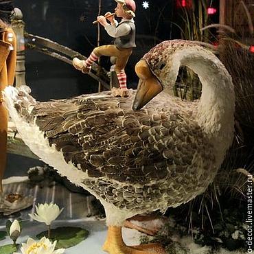 Для дома и интерьера ручной работы. Ярмарка Мастеров - ручная работа Сказочные птицы с натуральными перьями . Бутафория. Handmade.