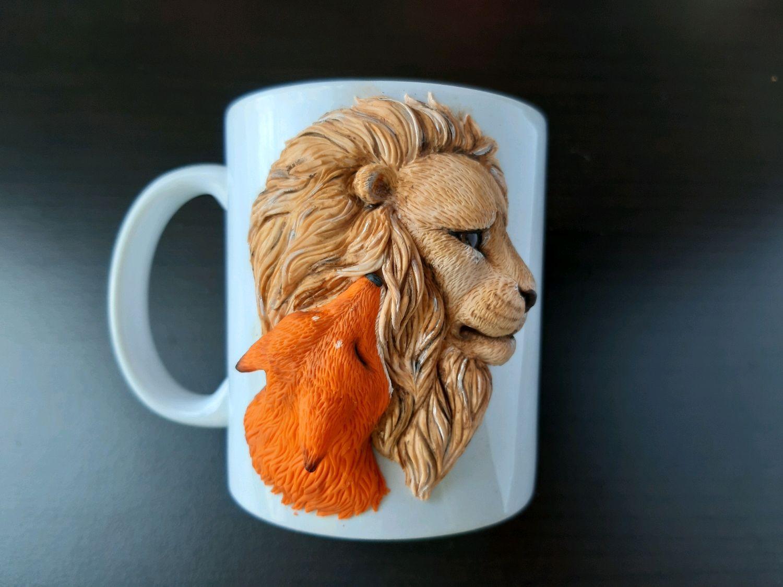Set Mug And Spoon Decorated With Polymer Clay Zakazat Na Yarmarke Masterov Eiba5com Kruzhki I Chashki Moscow
