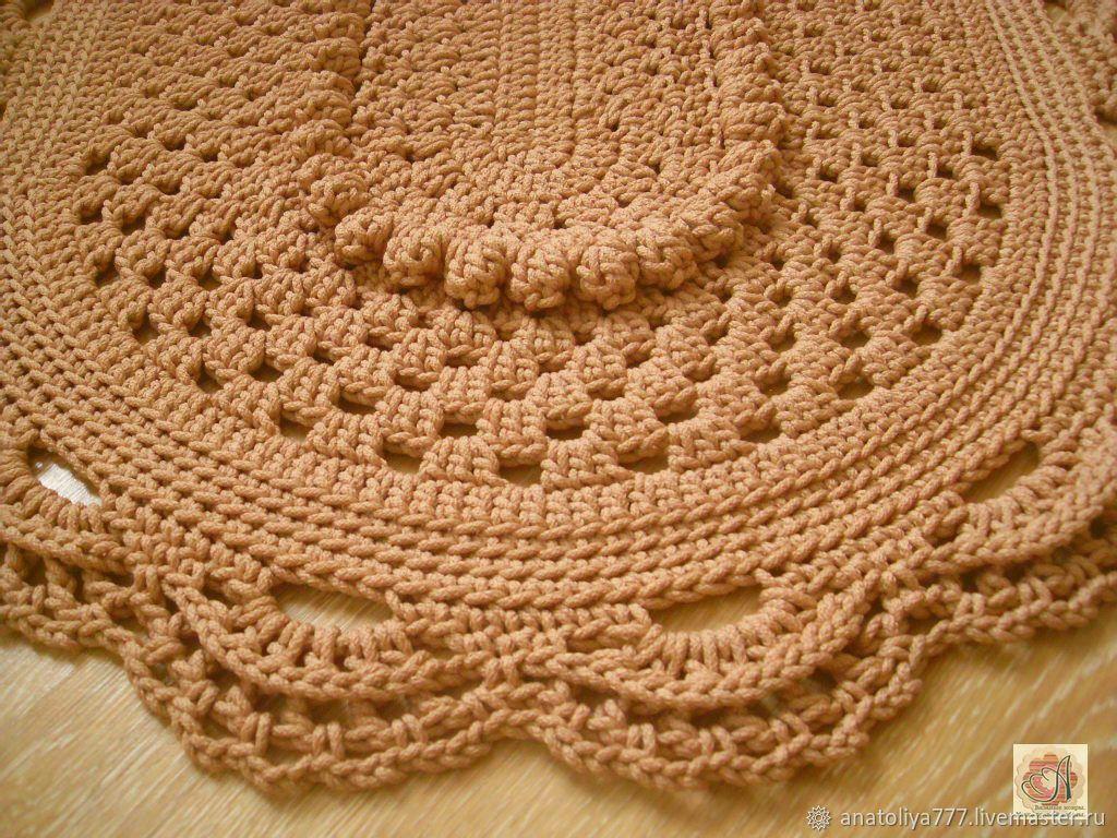Oval rug crochet Elegant-2, Carpets, Kabardinka,  Фото №1