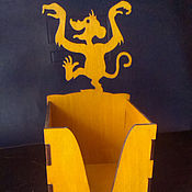 Подарки к праздникам handmade. Livemaster - original item Box for paper Monkeys. Handmade.
