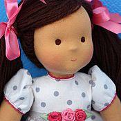 Куклы и игрушки ручной работы. Ярмарка Мастеров - ручная работа вальдорфская кукла  Полинка, 36см,  вальдорфская кукла. Handmade.