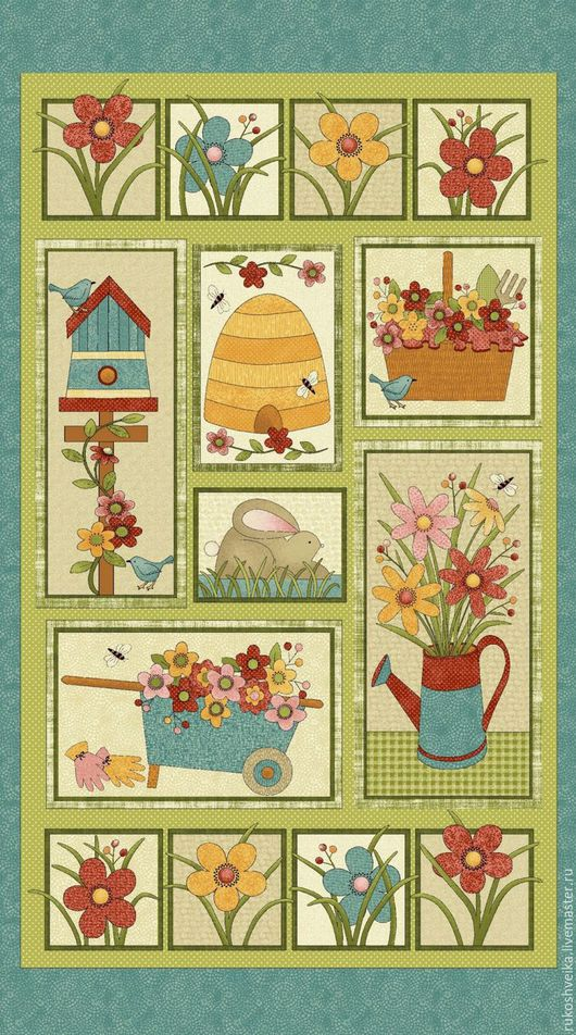 Шитье ручной работы. Ярмарка Мастеров - ручная работа. Купить Ткань из коллекции Сад наслаждений. Handmade. Комбинированный, панель для пэчворка