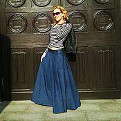 Одежда ручной работы. Ярмарка Мастеров - ручная работа Юбка из плотной джинсы-20%. Handmade.