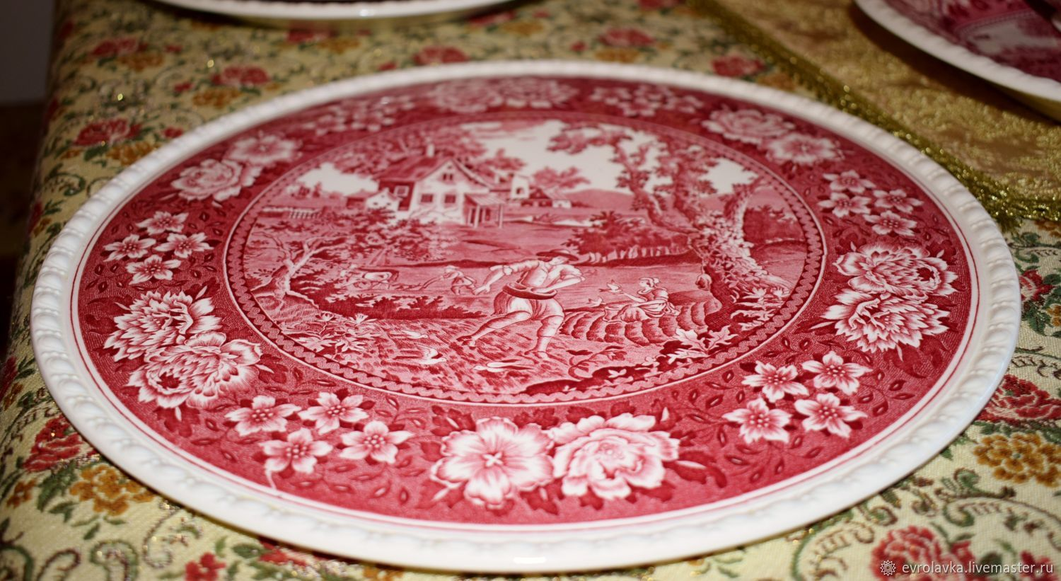 A large flat dish called a pizza pie Villeroy Boch Rusticana, Vintage plates, Trier,  Фото №1
