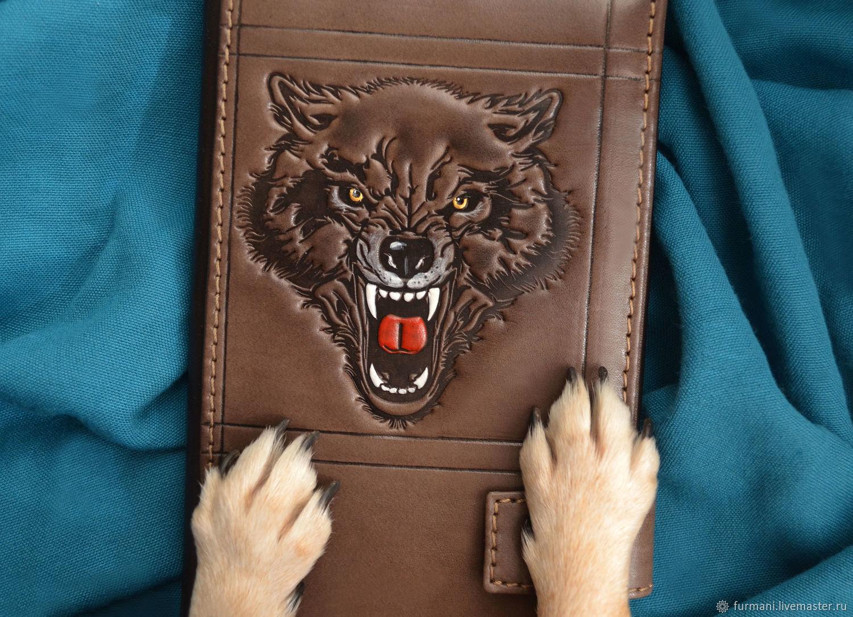 """Leather wallet """"BEAST OF PREY"""", Wallets, Krivoy Rog,  Фото №1"""