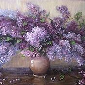 Картины и панно handmade. Livemaster - original item Oil painting Lilac wave painting lilac. Handmade.