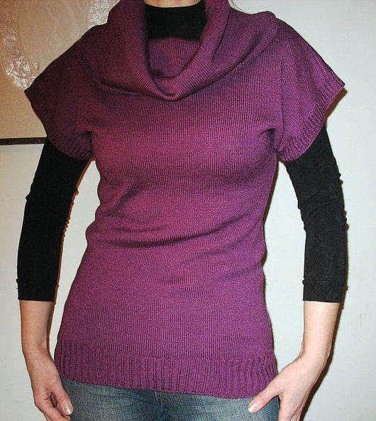 """Кофты и свитера ручной работы. Ярмарка Мастеров - ручная работа. Купить Пуловер """"Сирень"""". Handmade. Пряжа полушерсть, 50% акрил"""