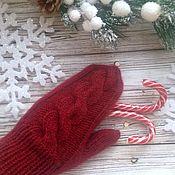 Аксессуары handmade. Livemaster - original item Knitted mittens from Angora