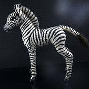 handmade. Livemaster - original item The African Zebra foal. The figurine is made of wool. Handmade.