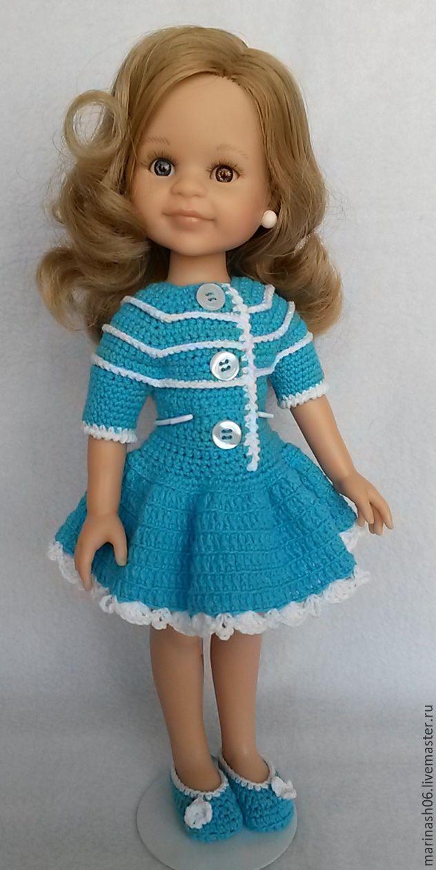 """Одежда для кукол ручной работы. Ярмарка Мастеров - ручная работа. Купить Летний комплектик """"Бирюза"""" ( для куколки Paola Reina). Handmade."""