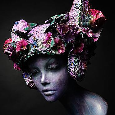 Одежда ручной работы. Ярмарка Мастеров - ручная работа Головной убор. Цветы.. Handmade.