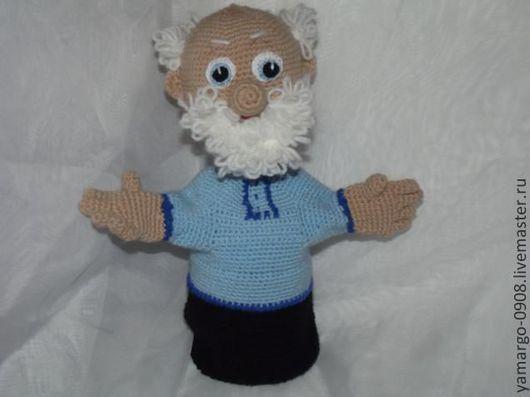 Кукольный театр ручной работы. Ярмарка Мастеров - ручная работа. Купить Кукла- перчатка. Дед Матвей. Handmade. Кукольный театр