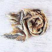 Аксессуары handmade. Livemaster - original item Golden felted scarf. Handmade.