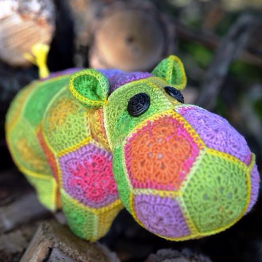 Игрушки животные, ручной работы. Ярмарка Мастеров - ручная работа. Купить Вязаная игрушка Бегемот Мирандолина. Handmade. Вязание крючком