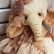 Куклы и игрушки ручной работы. Ярмарка Мастеров - ручная работа Слоник тедди. Сюзанна.. Handmade.
