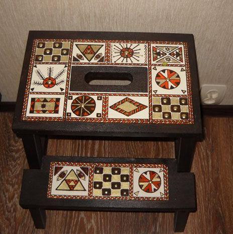"""Мебель ручной работы. Ярмарка Мастеров - ручная работа. Купить табурет-лесенка """"рамамба хара мамба ру """". Handmade."""