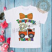 """Футболка ручной работы. Ярмарка Мастеров - ручная работа Детская футболка """"Мне 2 года"""". Handmade."""