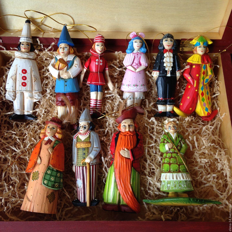 Игрушки на ёлку набор по сказке Буратино, Куклы и пупсы, Сергиев Посад,  Фото №1