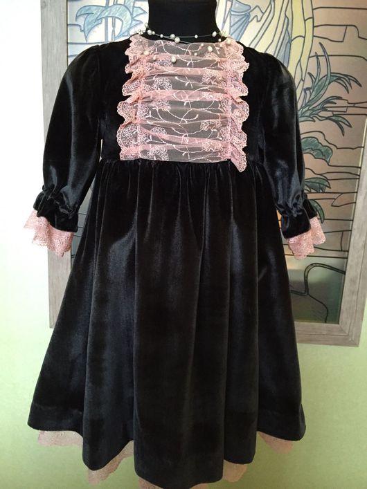 Одежда для девочек, ручной работы. Ярмарка Мастеров - ручная работа. Купить Платье праздничное. Handmade. Платье, бархат на шелковой основе