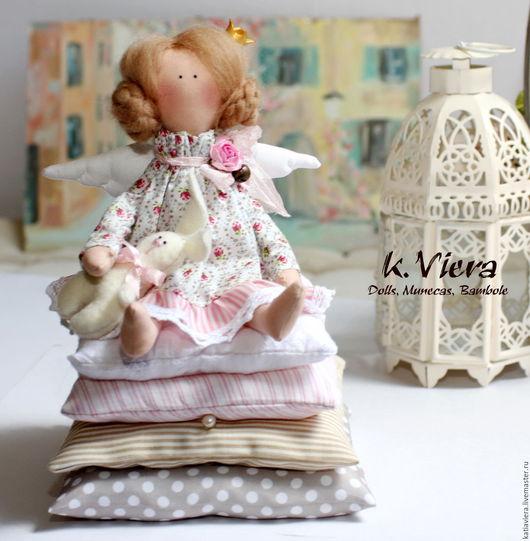 Принцесса на горошине, Куклы Тильда ручной работы,куклы игрушки, принцесса на горошине,тильда, тильда ангел, ангел,handmade, K.Viera, Ярмарка Мастеров.