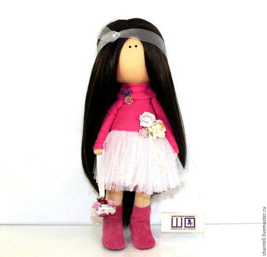 Коллекционные куклы ручной работы. Ярмарка Мастеров - ручная работа. Купить Флора. Handmade. Фуксия, кукла в подарок, интерьерная игрушка