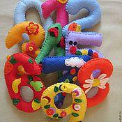 Мягкие игрушки ручной работы. Ярмарка Мастеров - ручная работа Цифры из фетра. Handmade.