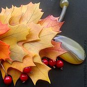 """Украшения ручной работы. Ярмарка Мастеров - ручная работа """"Осеннее настроение. Желто..."""" Колье и серьги Бронь. Handmade."""