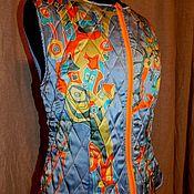 Одежда handmade. Livemaster - original item The vest is insulated batik. Handmade.