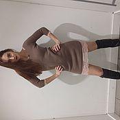Одежда ручной работы. Ярмарка Мастеров - ручная работа Платье из итальянской пряжи с кружевом.. Handmade.