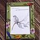 """Фоторамки ручной работы. Ярмарка Мастеров - ручная работа. Купить рамка для фотографий """"птицы"""". Handmade. Зеленый, акриловая краска"""