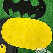 Комплекты аксессуаров ручной работы. Ярмарка Мастеров - ручная работа Реквизит для аниматоров «Пазл Бетмен». Handmade.